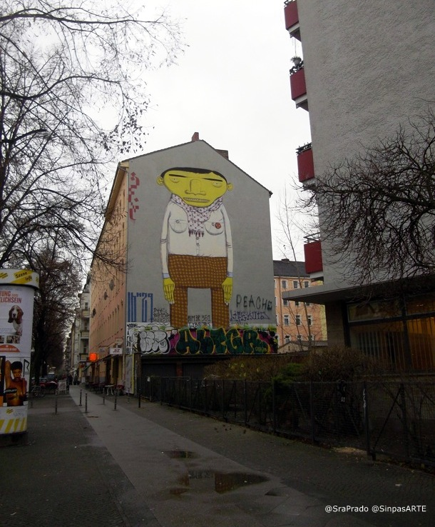 Os Gemeos en Berlín - Mural por la zona de Kreuzberg