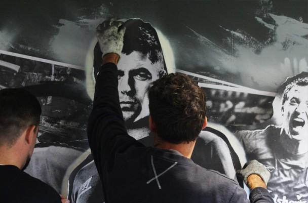 Fútbol y graffitis