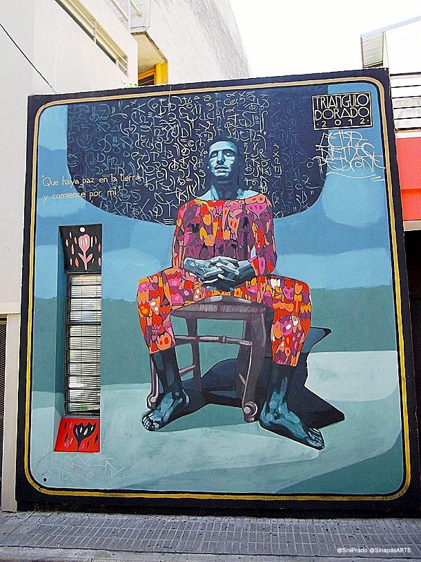 Mural de Triángulo Dorado Street Art