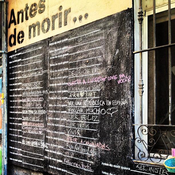 Antes de morir, arte urbano participativo