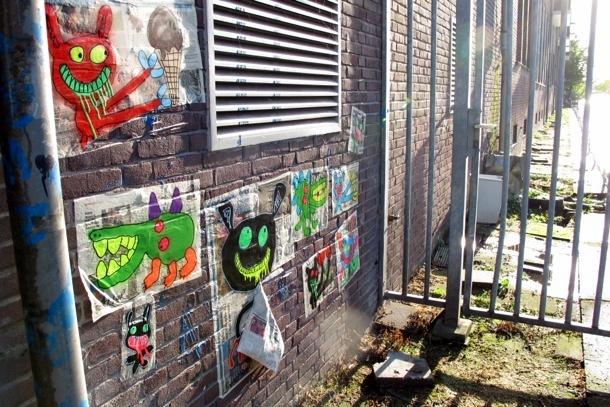 Street art: Bortusk Leer en Amsterdam