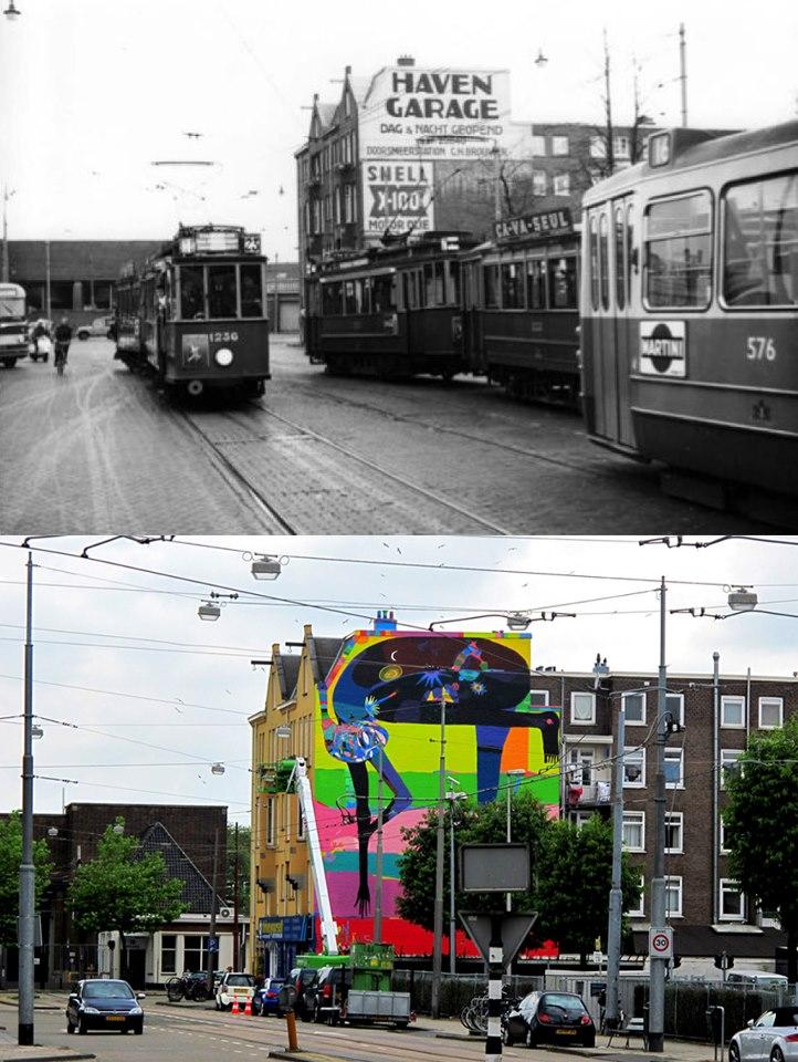 La parede de la calle Havenstraat 12 en el año 1959