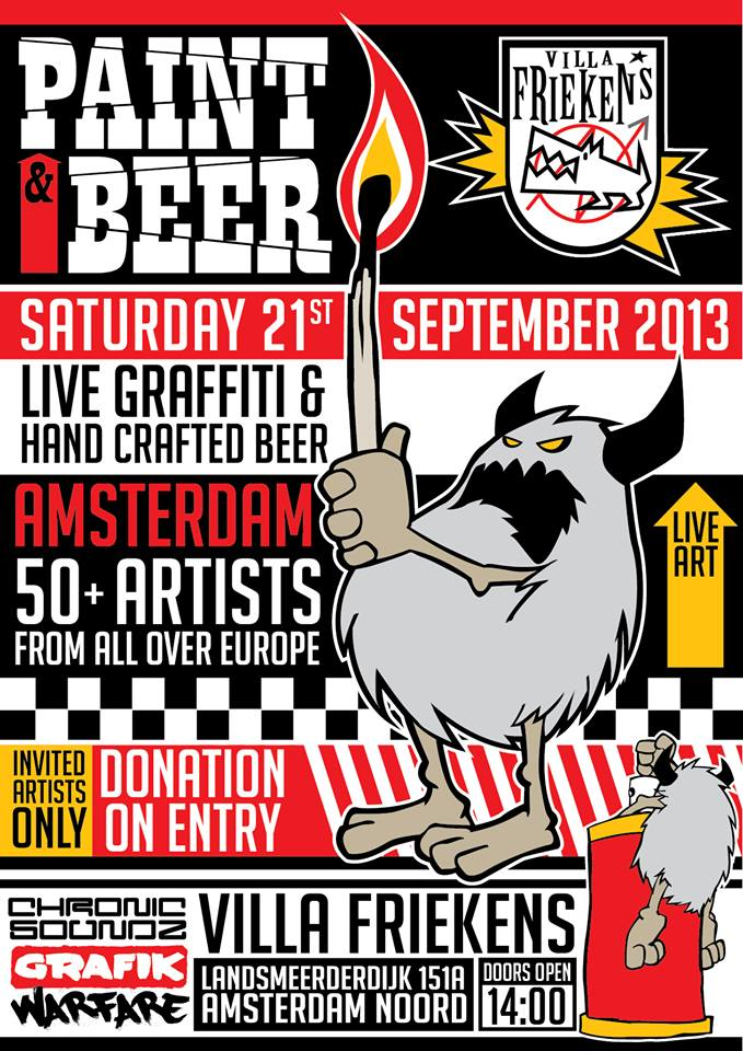 Live Graffiti and hand crafted beer
