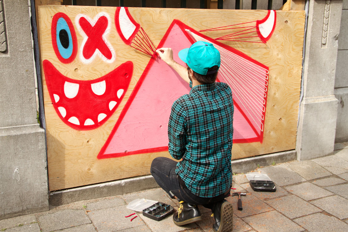 OX ALIEN + SPIDERTAG en ROTTERDAM 2013-