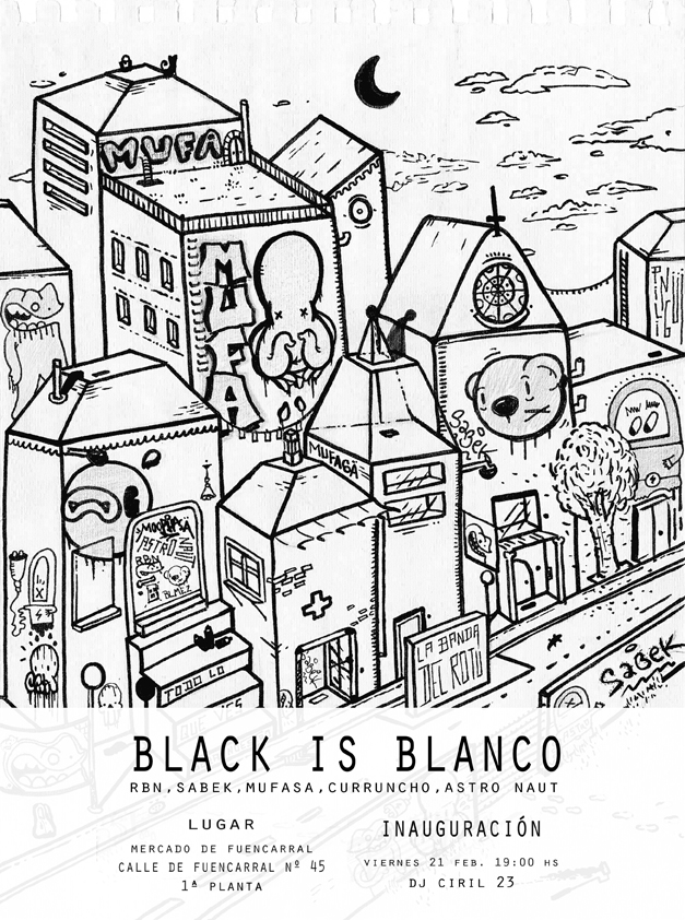 "Hoy ""Black is blanco"" en el Mercado de Fuencarral"