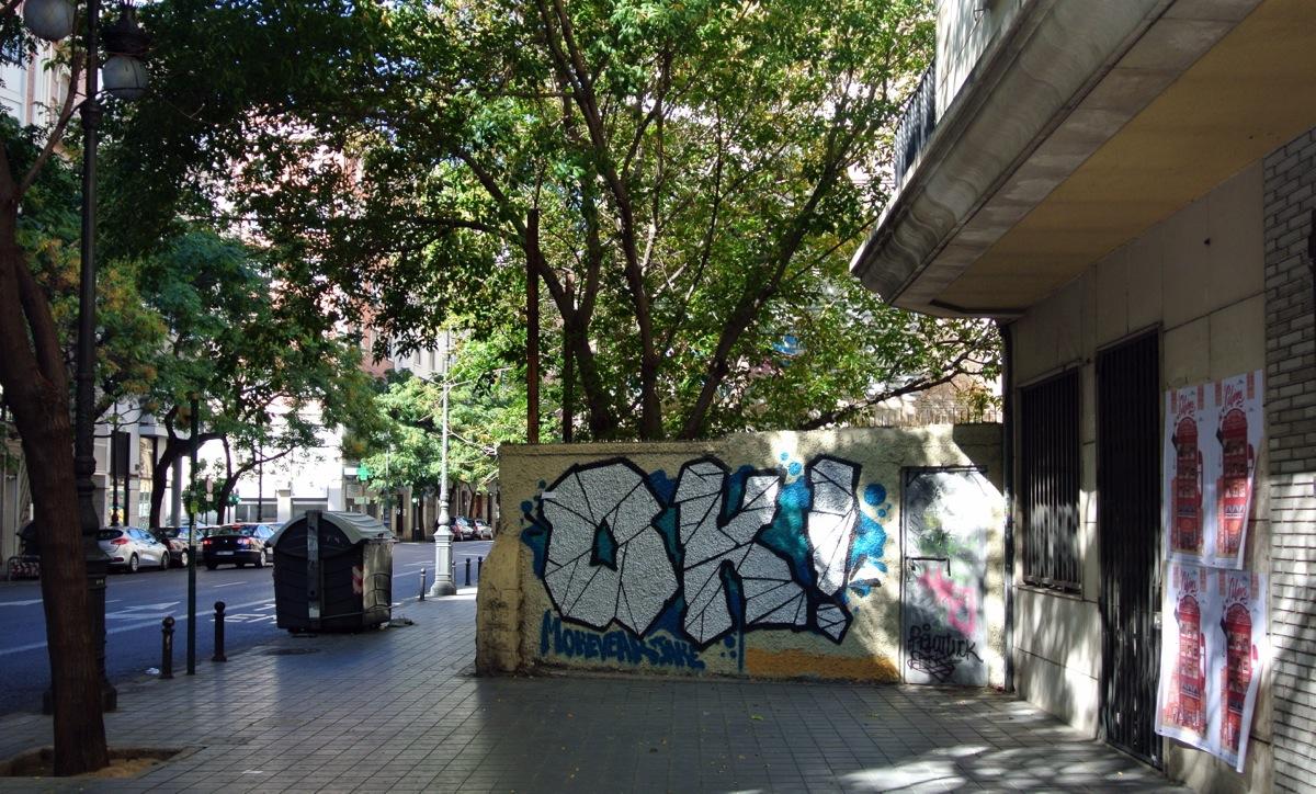 Graffitis en la ciudad del Turia