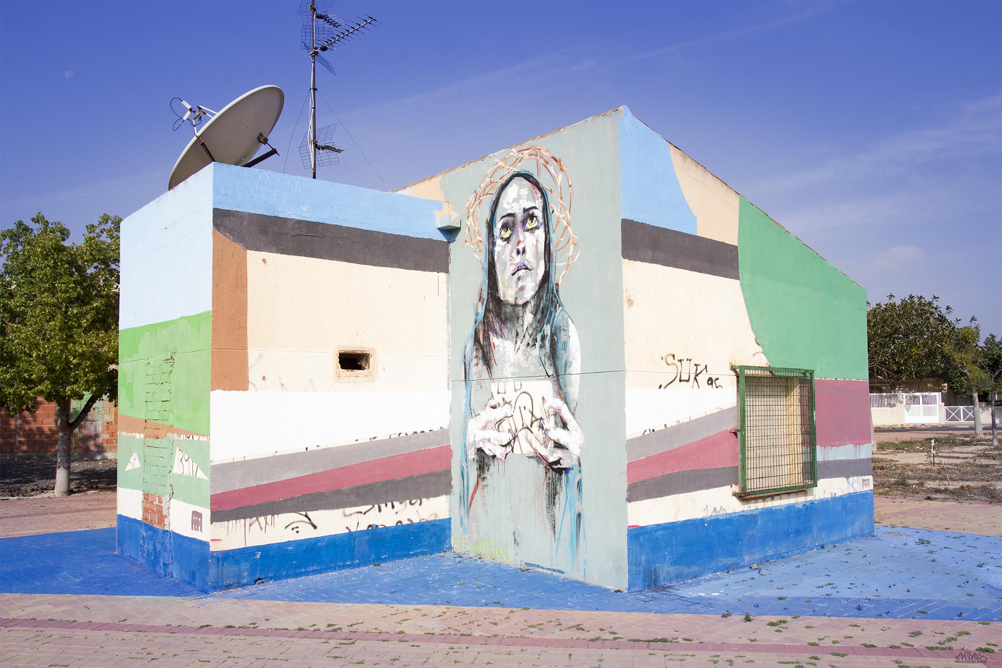 Ze Carrion y AA by Aisac Studio para los Álcazares Street Art